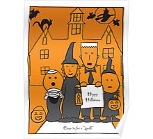 Happy Halloween Card Poster