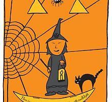 Halloween Witch Card by springwoodbooks