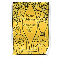 New Orleans Mardi Gras Card Poster