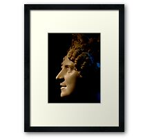 Marble Bust in Profile Framed Print
