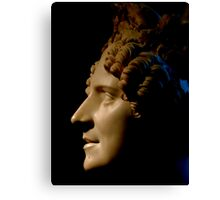 Marble Bust in Profile Canvas Print