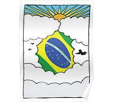 Emigrating Brazil Card Poster