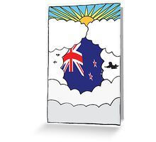 Emigrating To New Zealand Card Greeting Card