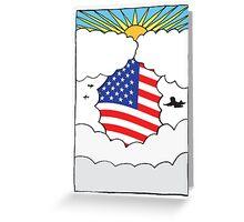 Emigrating To USA Card Greeting Card