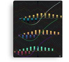 """J Curves and Elliott Waves""© Canvas Print"