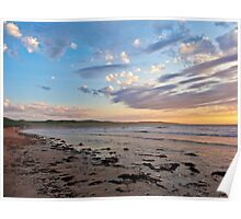 Silver Sands Beach (Facing South) Poster