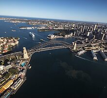 The Harbour, An Aerial View by Daniel Rankmore