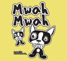 Mwah dog design Kids Tee