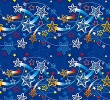 Blue Shooting Stars Pattern by HavenDesign