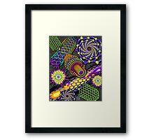 """""""Nanotubes 1 - PURPLE""""© Framed Print"""