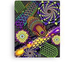 """Nanotubes 1 - PURPLE""© Canvas Print"