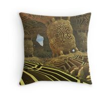 Chamber Of Gold Throw Pillow
