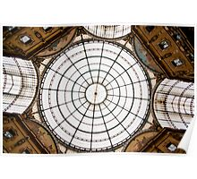 Milan Galleria ceiling dome Poster