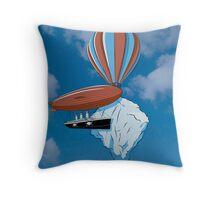 Sailing dangeorous skies. Throw Pillow