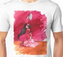 Spanish Flamenco Dancer (gouache painting) Unisex T-Shirt