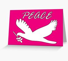 peace, with dove and olive branch Greeting Card
