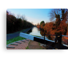 Canalside, Worcester Canvas Print