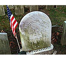 Simple Tombstone for a Great Man - Washington Irving's grave - photo 2 Photographic Print