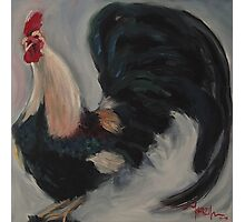 Crow - Rooster Painting Photographic Print