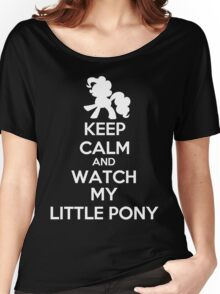 Keep calm and watch My Little Pony Women's Relaxed Fit T-Shirt