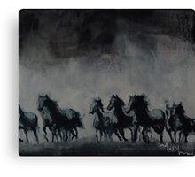 Raging - Horse Painting Canvas Print