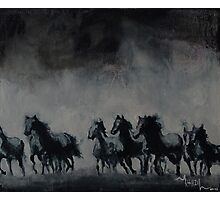 Raging - Horse Painting Photographic Print