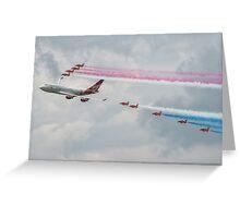 Virgin Atlantic & The Red Arrows Greeting Card