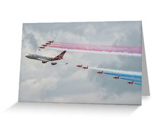 Virgin Atlantic & The Red Arrows Greeting Card
