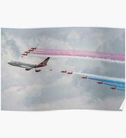 Virgin Atlantic & The Red Arrows Poster