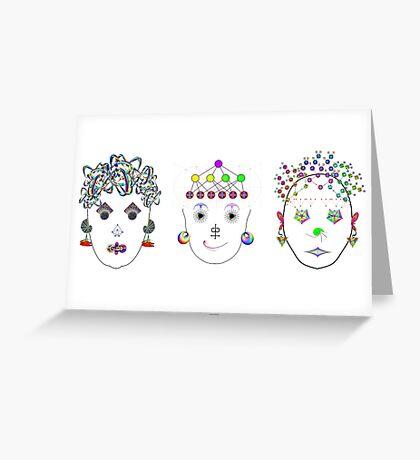 """Anthropomorphic Math Chicks 1""© Greeting Card"