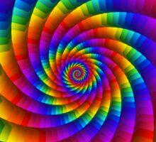 Psychedelic Rainbow Spiral Sticker