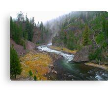 Firehole Canyon River - Yellowstone National Park Canvas Print