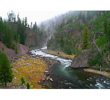 Firehole Canyon River - Yellowstone National Park Photographic Print