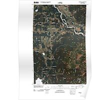 USGS Topo Map Washington State WA Lawrence 20110418 TM Poster