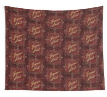 Joyeux Noel In Red And Gold Wall Tapestry