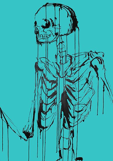 Skeleton 1 (blue) by Laura Potter-Dunn