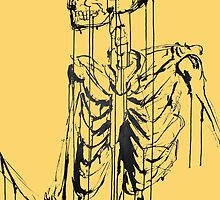 Skeleton 1 (yellow) by Laura Potter-Dunn