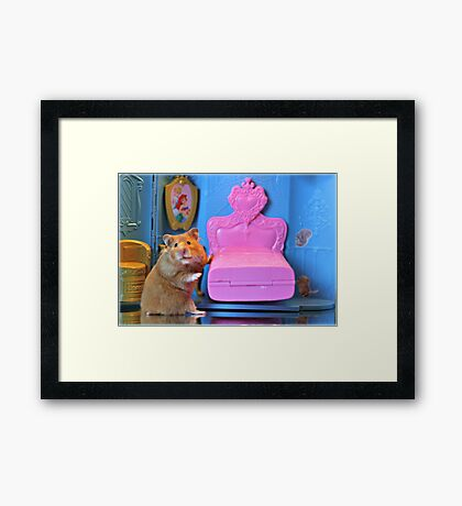 """""""And, This Bed Is Just Right...."""" Framed Print"""