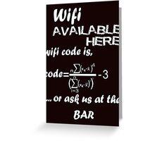 Wifi Code Greeting Card