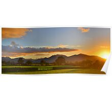 The Lake District: Sunset over the Fells Poster