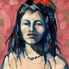 The red sash 2015© (detail) Oil on linen on board by Elizabeth Moore Golding