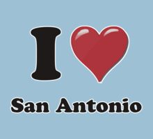 I Heart / Love San Antonio by HighDesign