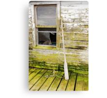 Broken Window Canvas Print