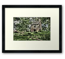 Hidden lodge Framed Print