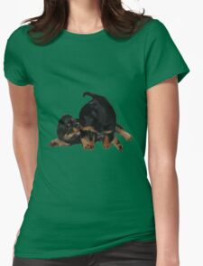 Rottweiler Puppies Playing Vector Isolated T-Shirt