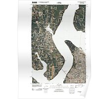 USGS Topo Map Washington State WA Gig Harbor 20110422 TM Poster