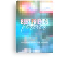 Best Friends Forever Pastel Mosaic Stained Glass Metal Print