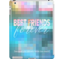 Best Friends Forever Pastel Mosaic Stained Glass iPad Case/Skin