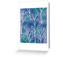 White forest watercolor 2 Greeting Card