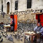 Pigeon Feeders, Istanbul, Eminonu, Mosque by espanek